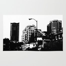 99 North in Black and White Rug