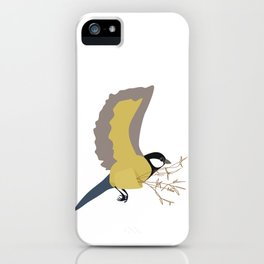Bæremeis (Great tit carrier ?  :)   ) iPhone Case