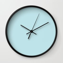 Annas Dream Solid Soft Powder Blue Matte Colour Blocks Wall Clock