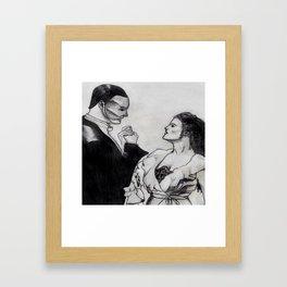 Erik & Christine Framed Art Print