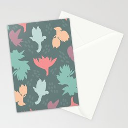 Succulent floral element & patterns III Stationery Cards