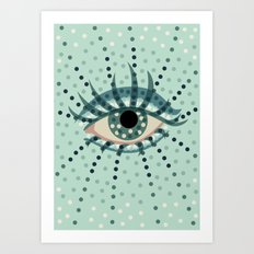 Dots And Abstract Eye Art Print