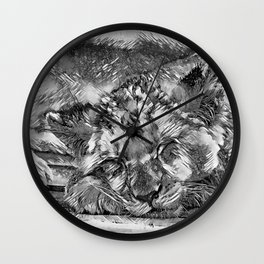 AnimalArtBW_Lion_20170612_by_JAMColorsSpecial Wall Clock