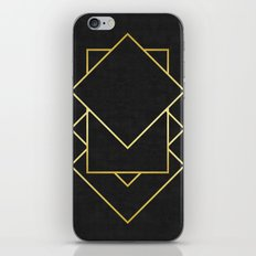 Golden forms X iPhone Skin