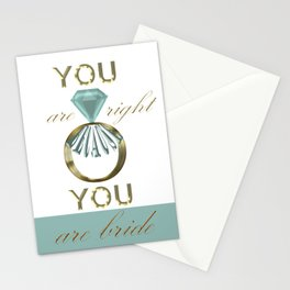 you are right Stationery Cards