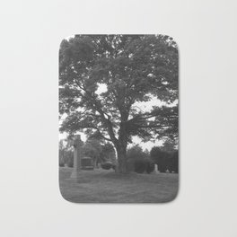 tree and grave Bath Mat