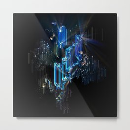 Space Chimes Metal Print