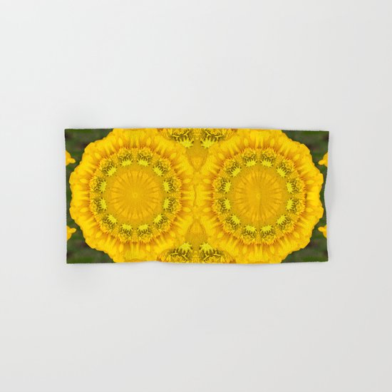 Yellow Flower Hand & Bath Towel