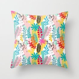 Beautiful abstract floral pattern Throw Pillow