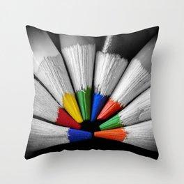 Colour Your Walls Throw Pillow