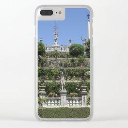 Gardens of Borromeo Palace on Isola Bella, Stresa,Italy. Clear iPhone Case