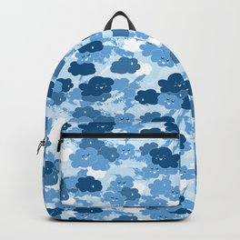 Happy Clouds / Blue Backpack