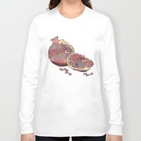 pomegranate Long Sleeve T-shirts featuring Pomegranate by Alex&ra Arens