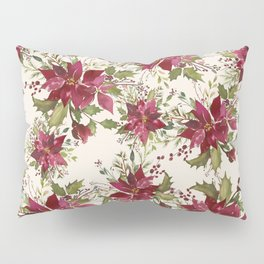 Poinsettia Pattern Pillow Sham