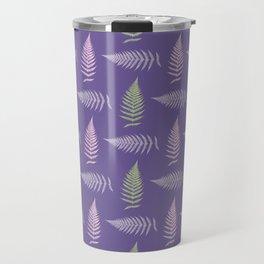 Fern seamless pattern. Ultra violet. Travel Mug