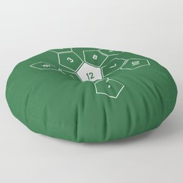 Green Unrolled D12 Floor Pillow