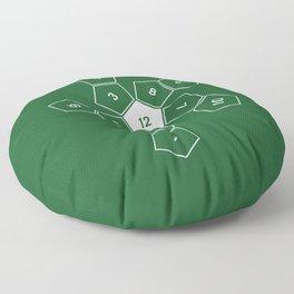Green Unrolled D12 Floor Pillow