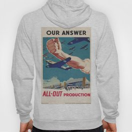 Vintage poster - All-Out Production Hoody