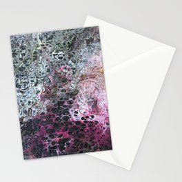 Acrylic pour 2 Stationery Cards