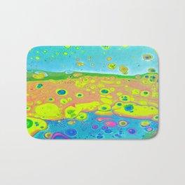 Fluid Bridge, Acrylic pour art Bath Mat