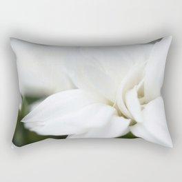 Snow White Flowers on a Dark Background #decor #society6 #buyart Rectangular Pillow