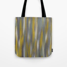 Chartreuse and Grey Woven Textile Design Tote Bag