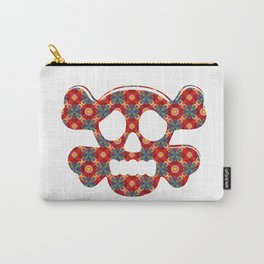 Colorful human skull Carry-All Pouch