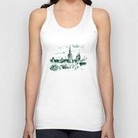 medieval Tank Tops featuring Medieval landscape. by LaDa