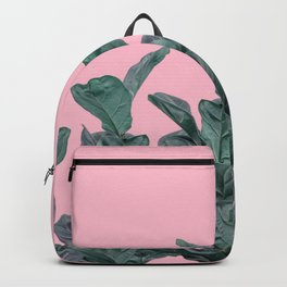Rubber trees with pink Backpack