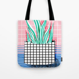 Glam - pop art memphis neon house plants throwback retro 80s style cool brooklyn style minimalism Tote Bag