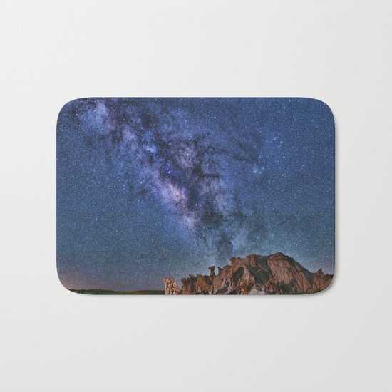 Bisti Badlands Night Sky Bath Mat