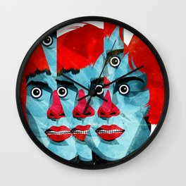 The cats in my head Wall Clock
