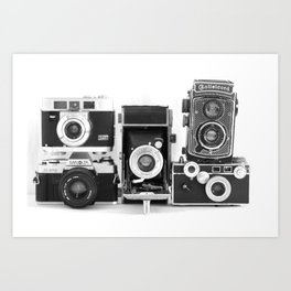 Vintage Camera Collection Art Print