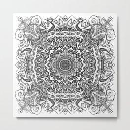 Mandala Mountain Metal Print