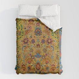 Hereke Vintage Persian Silk Rug Print Duvet Cover