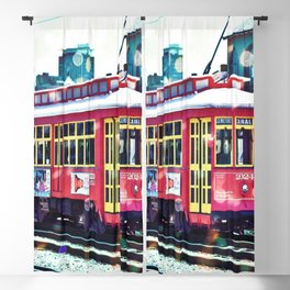 Bokeh Streetcar Blackout Curtain