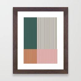 Color Block Line Abstract V Framed Art Print