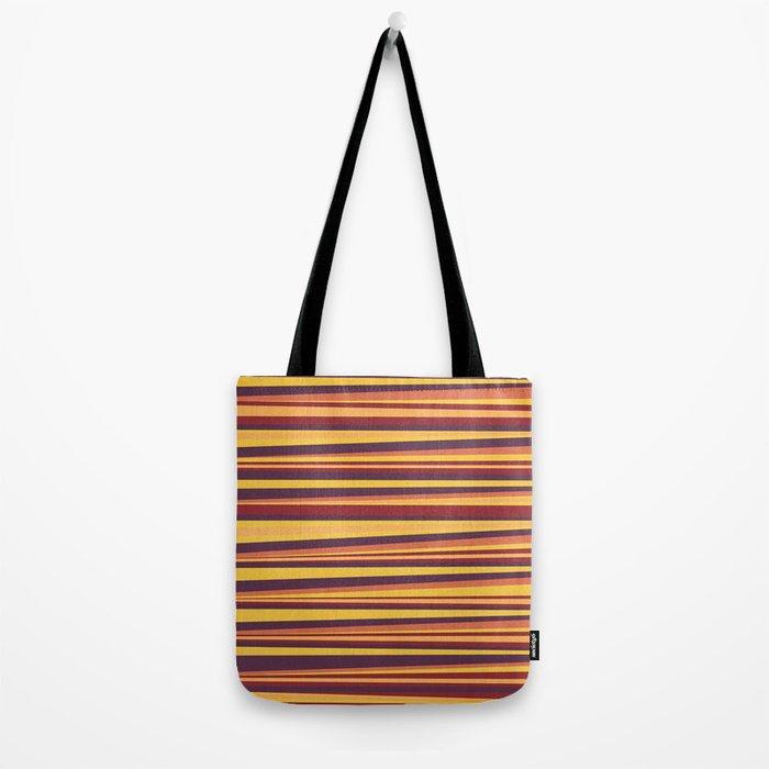 Happy Horizontal Lines Tote Bag