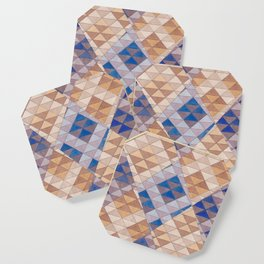 Triangle Pattern No. 13 Shifting Purple and Ochre Coaster