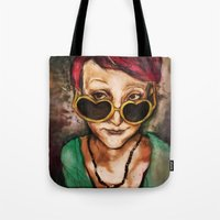 charmaine olivia Tote Bags featuring Olivia by Hilary Dow