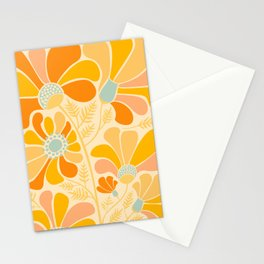 Sunny Flowers / Floral Illustration Stationery Cards