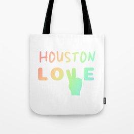 Gay Pride Houston Love design | Parade Houston TX LGBTQ Tote Bag