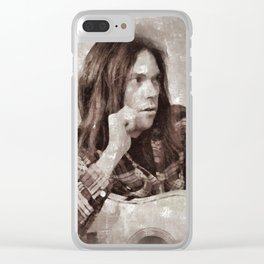 Neil Young by MB Clear iPhone Case