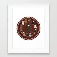 nori Framed Art Prints featuring Dwarpacas(Nori) by Lady Cibia