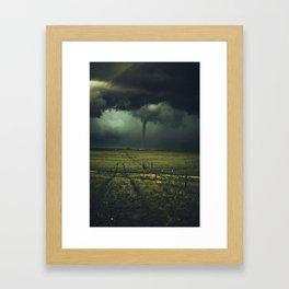 Tornado Coming (Color) Framed Art Print