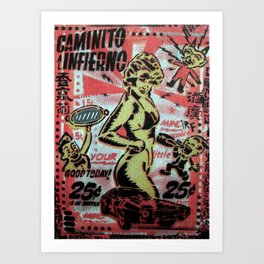 Caminito Al Infierno Art Print
