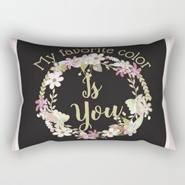 """My Favorite Color is You."" Lavender Wreath Rectangular Pillow"