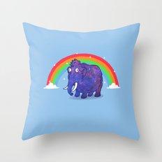 Magical Mammoth Throw Pillow