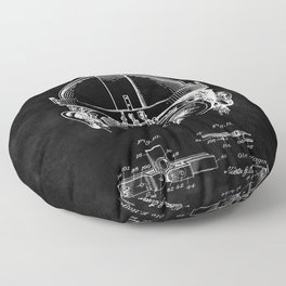 Welding Goggles Blueprint Floor Pillow