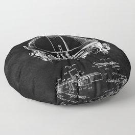 Welding Goggles Blueprint Floor Pillow